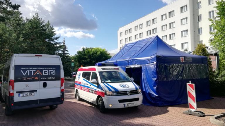 namiot drive-thru namiot medyczny VITABRI v3 3x8m