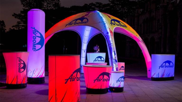 namiot  stałociśnieniowy airdome 4m wystawy