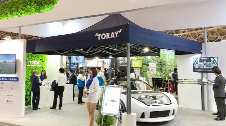 namiot wystawa samochodów vitabri v2 5x5m toray