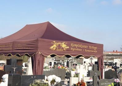 Namiot pogrzebowy V3 3x4,5m brązowy