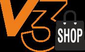 V3 shop logo