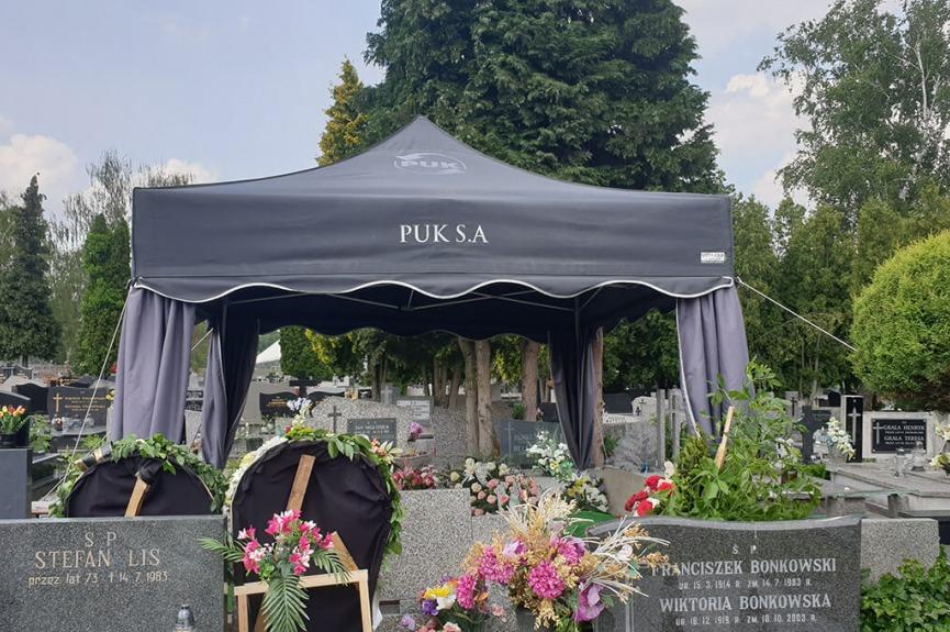 Namiot pogrzebowy PUK Lublin