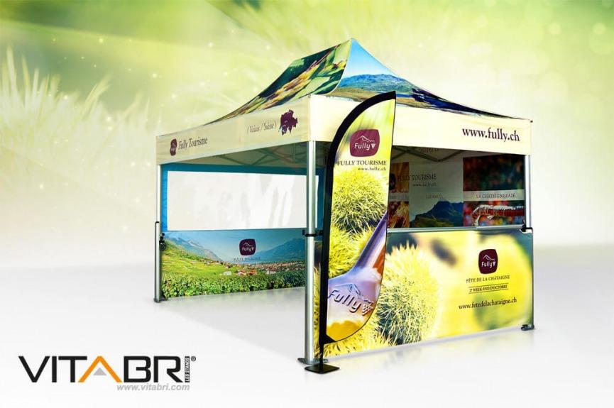 Namiot reklamowy VITABRI nadruk full color
