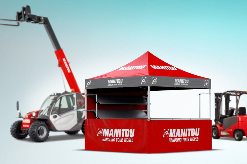 Namiot reklamowy VITABRI V3 Hexa Manitou