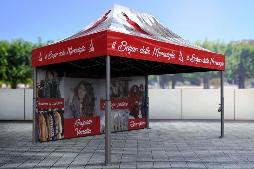 Namiot reklamowy z nadrukiem V2 3x4,5m