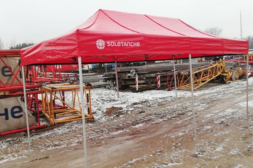 Namioty budowlane VITABRI V3 PVC