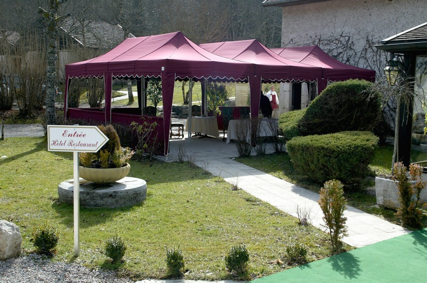 Namioty restauracyjne VITABRI V3 3x6m bordowe