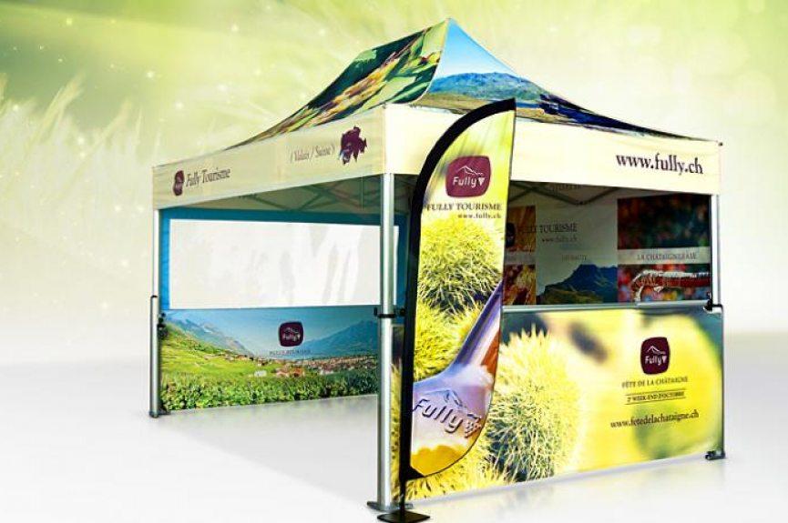 namiot reklamowy, namiot z nadrukiem reklamowym
