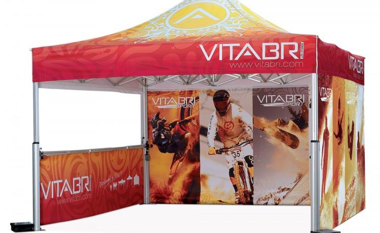 namiot handlowy VITABRI V2 5x5m aluminiowy szybkorozkladany