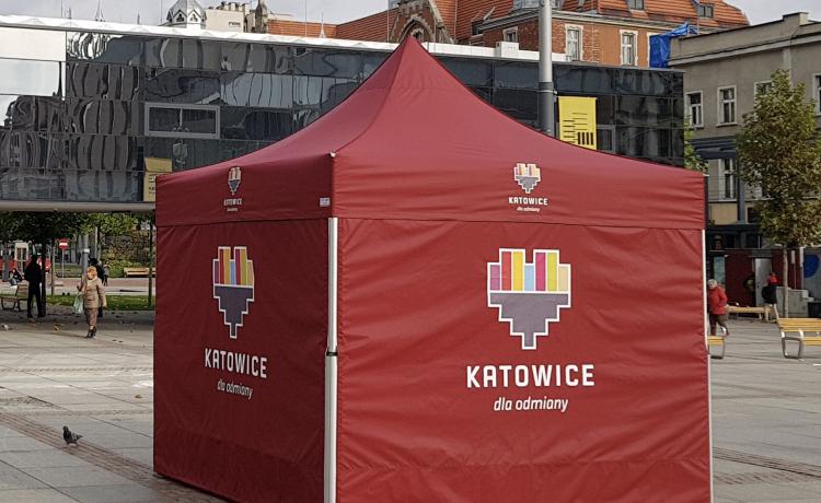 namiot promocyjny VITABRI V2 3x3m Urzad Miasta KAtowice
