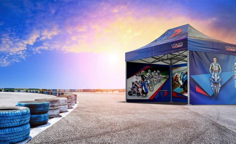 namiot promocyjny VITABRI V5 3x4,5m z nadrukiem sublimacyjnym