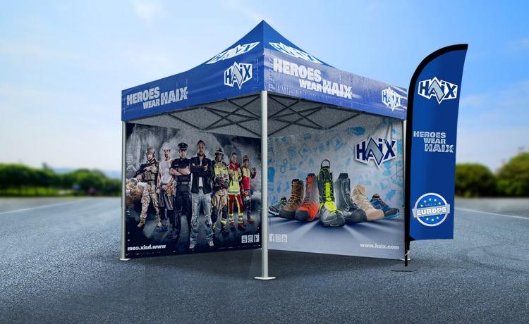 namiot promocyjny z nadrukiem VITABRI V5 3x3m