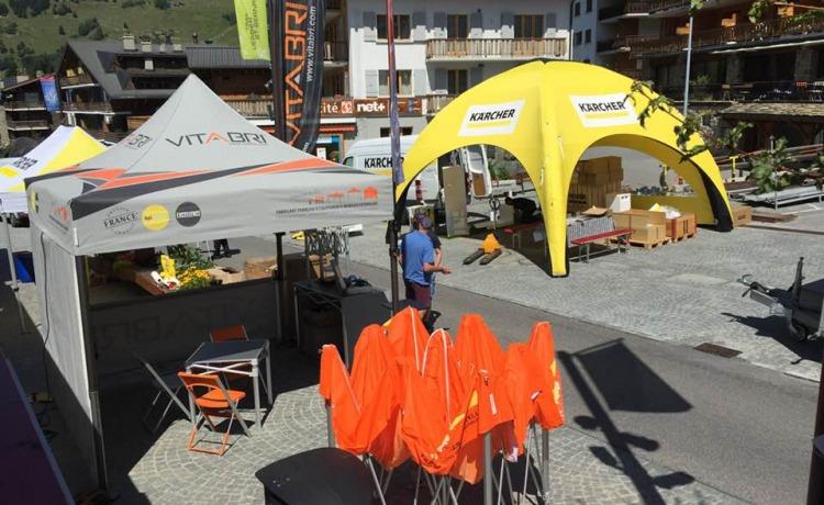 namiot reklamowy AirDome 4x4m Karcher