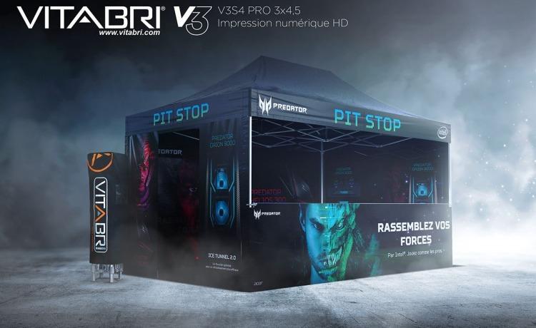 namiot reklamowy vitabri v3 3x45m nadruk sublimacyjny