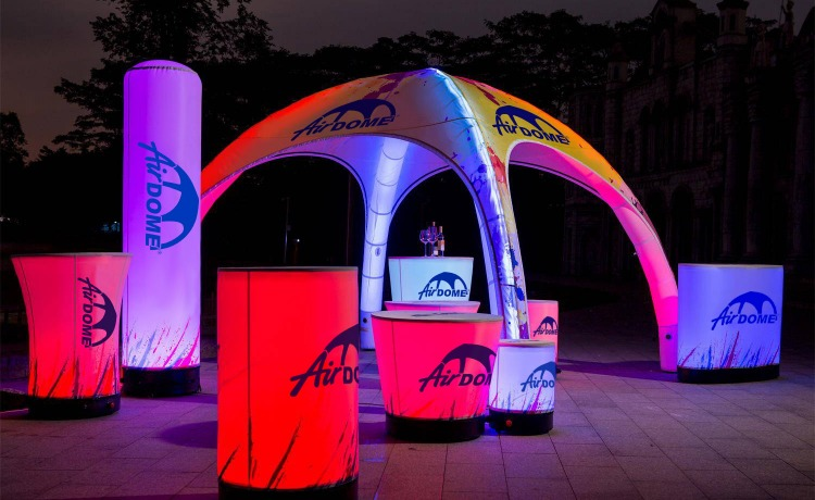 namiot stałociśnieniowy airdome 4x4m