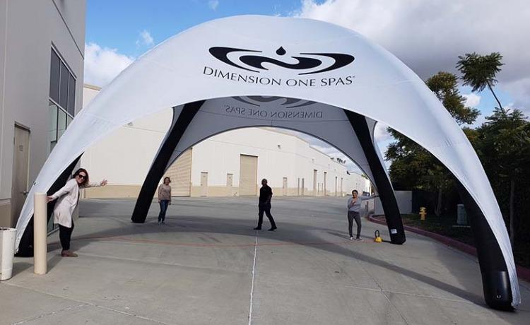 namiot stałociśnieniowy airdome stoisko promocyjne