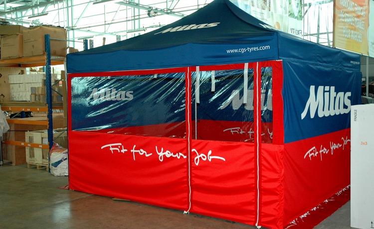 namiot z nadrukiem sublimacyjnym vitabri 4x4 m