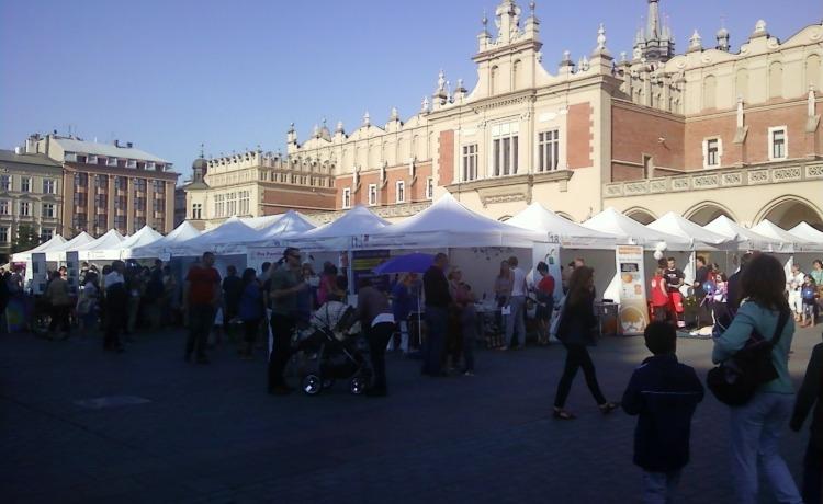 targ rynek główny Kraków namioty VITABRI V3 3x3m