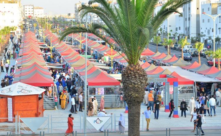 targ rynek handlowy urzad miasta Casablanca namioty VITABRI V3 3x3m