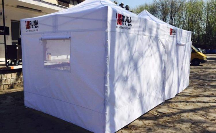 namiot na plan filmowy VITABRI