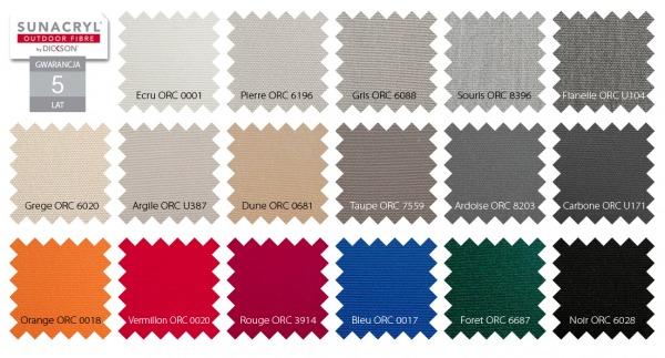 kolorystyka materiałów Dickson