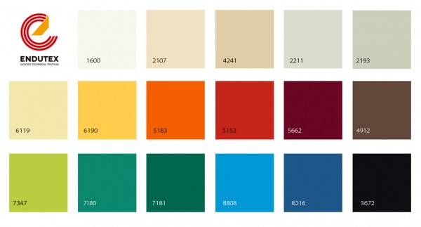 kolorystyka materiałów Endutex PVC M2