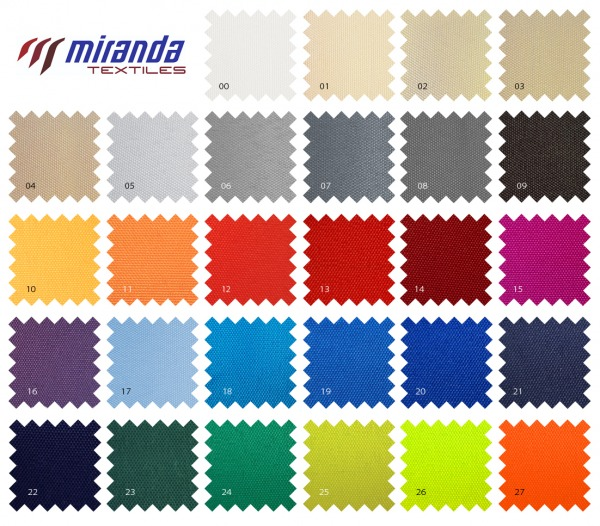 kolorystyka materialow poliestrowych