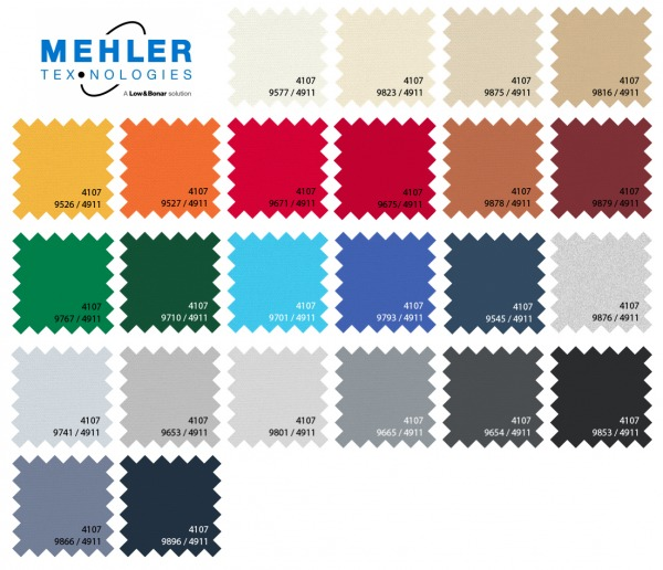 kolorystyka materiałów Mehler