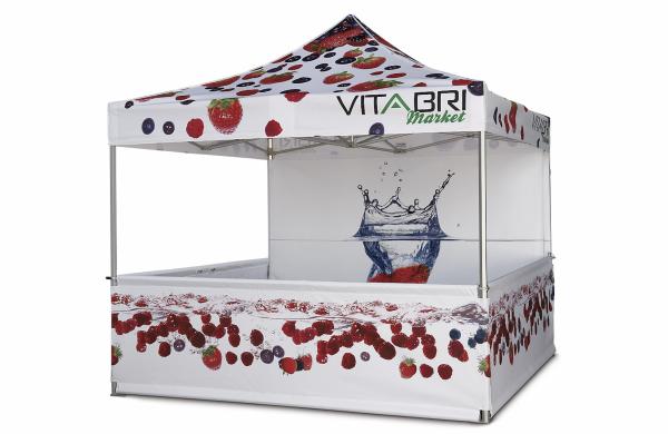 namiot handlowy vitabri v3 vitabri z nadrukiem