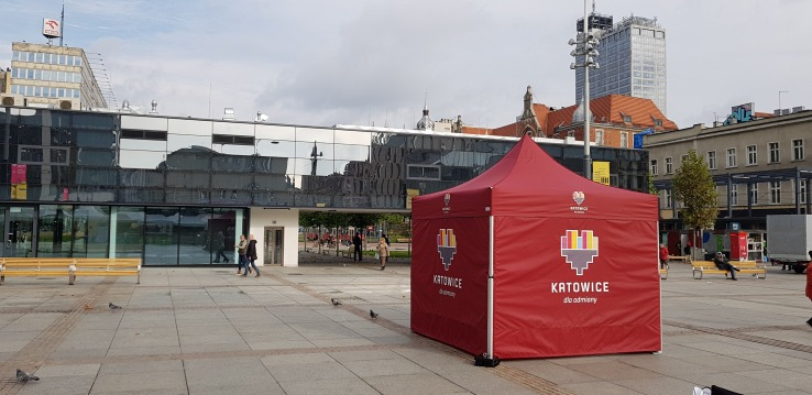 namiot reklamowy vitabri miasto katowice v2 3x3m